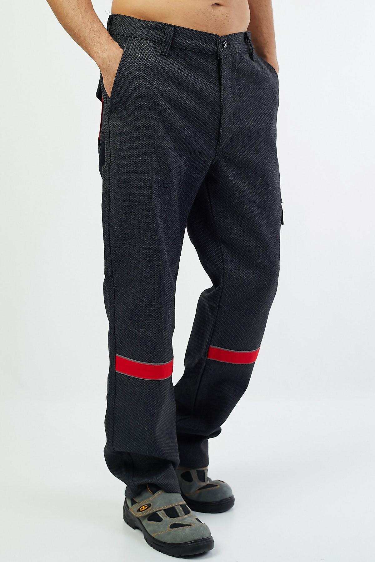 Kaşe Pantolon Kırmızı Biyeli